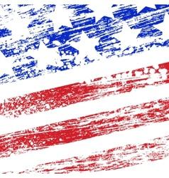 Grunge USA flag vector image vector image