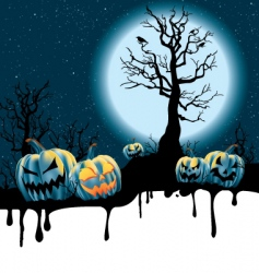 Halloween moonlight vector image