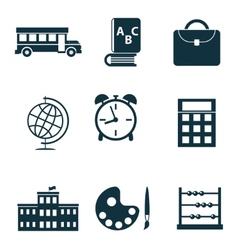 School isolated icons vector image