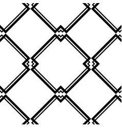 Abstract art deco black geometric seamless pattern vector