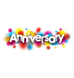 Anniversary banner on blurred background vector