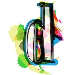 Artistic Font - Letter d vector