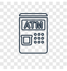 atm concept linear icon isolated on transparent vector image