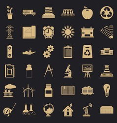 big company icons set simple style vector image