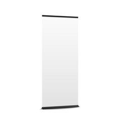 blank pop up banner mockup commercial vertical vector image