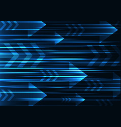 Blue arrow abstract technology background vector