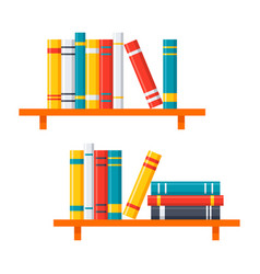 Bookshelves icon vector
