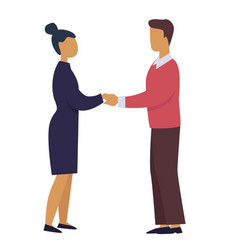 business professional relationship man and woman vector image