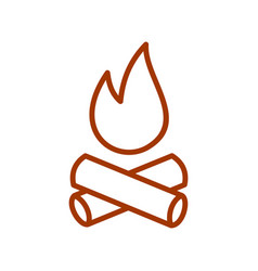 campfire line icon for web mobile and vector image