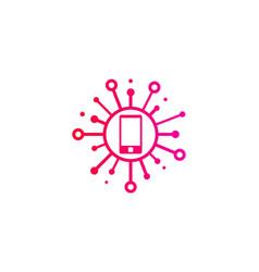 Cellphone share logo icon design vector