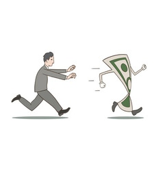Chasing money vector image vector image