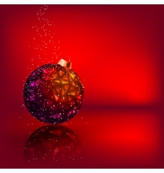Christmas card with stars Christmas ball EPS 8 vector image