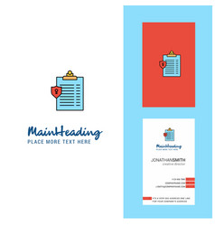 clipboard creative logo and business card vector image