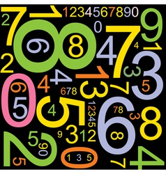 colourful numbers vector image