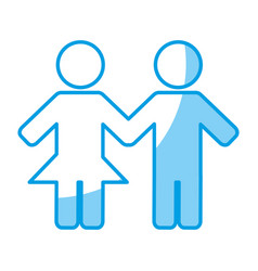 Couple figure icon vector