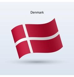 Denmark flag waving form vector image