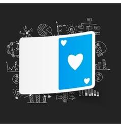 Drawing business formulas playing card vector