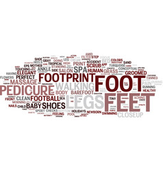 Footprint word cloud concept vector