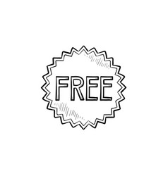 free sticker hand drawn outline doodle icon vector image
