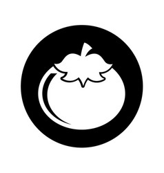 Fresh tomato isolated icon vector