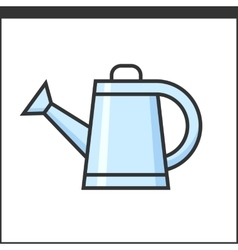 Garden watering pot icon vector image