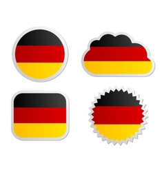 Germany flag labels vector image
