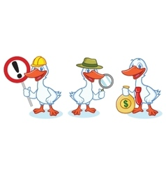 Goose Mascot with sign vector