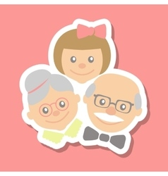 Grandparents and granddaughter vector