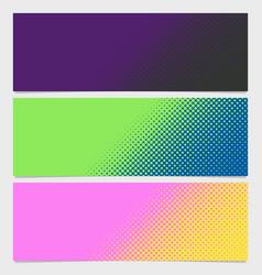 Halftone dot pattern banner template - design vector