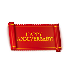 happy anniversary horizontal banner vector image