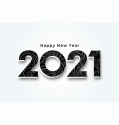Happy new year 2021 3d style background design vector