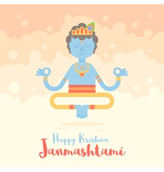 Hindu God Krishna cartoon character f vector image