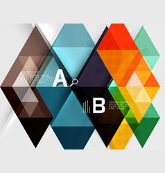 Infographic template - triangle tiles background vector