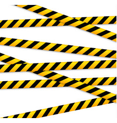 Isolated lines of insulation realistic warning vector