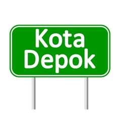 Kota Depok road sign vector