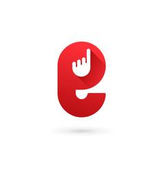 Letter e hand logo icon design template elements vector