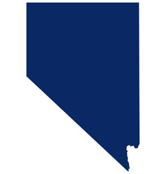 Map nevada in blue colour vector