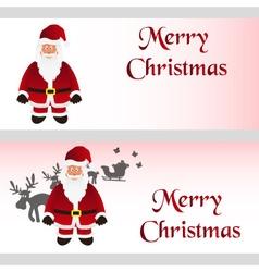 Mery christmas with cartoon Santa Claus greeting vector