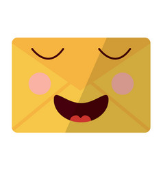 message envelope kawaii icon image vector image