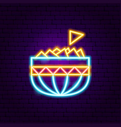 mexican nachos neon sign vector image