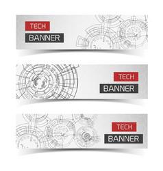 Modern virtual tech banners vector