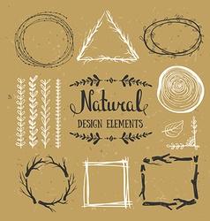 Natural design elements Forest frames on the vector image