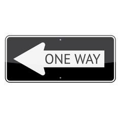 One Way Sign vector image