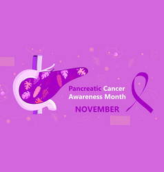 Pancreatic cancer awareness month is organized on vector
