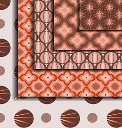Patterns geometric Brown vector