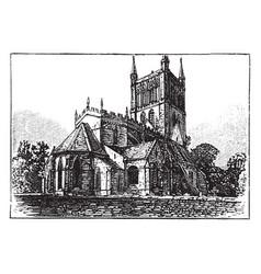 Pershore abbey vintage vector