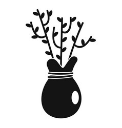 Plant for seed icon simple style vector