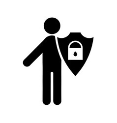 Protection and security icon vector