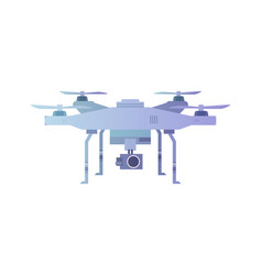 Quadcopter aerial drone with camera vector
