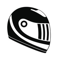 Racing helmet black simple icon vector image